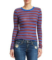 avery striped cashmere-blend shirt