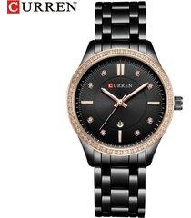 reloj de cuarzo para mujer curren / 9010-negro