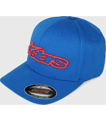 gorra azul-rojo alpinestars blaze flexfit