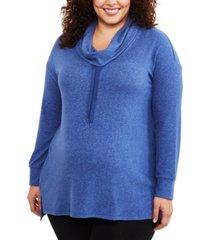 motherhood maternity plus size cowl-neck sweatshirt