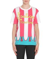 boutique moschino round collar t-shirt