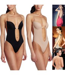 convertible backless full body shaper push up bra thong bodysuit shapewear