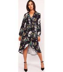 asymetryczna sukienka, suk161 ptaki