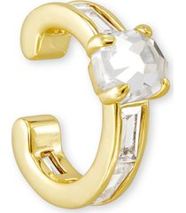 kendra scott 14k gold-plated crystal single ear cuff
