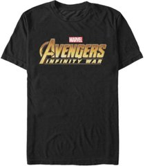 marvel men's avengers infinity war avengers logo short sleeve t-shirt