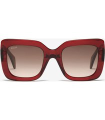 rodeo square frame sunglasses red 1