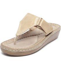 sandalia dorado stylo shoes