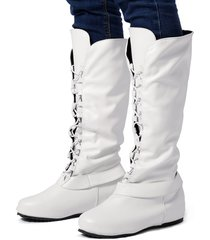 donne di grandi dimensioni comodo ginocchio stivali da equitazione con lacci