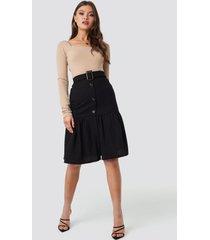 mango fasis skirt - black