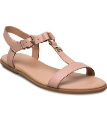feminine leather flat sandal shoes summer shoes flat sandals rosa tommy hilfiger