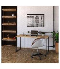 mesa de escritório kuadra i carvalho 150 cm