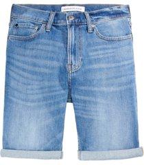 calvin klein men's straight fit istanbul blue jean shorts