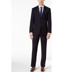 tommy hilfiger men's modern-fit thflex stretch navy twill suit