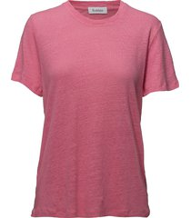 ninja linen t-shirts & tops short-sleeved rosa rodebjer