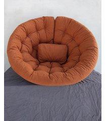 fotel futon sofa pikowana velvet matowy rudy