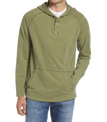 men's rhone bolinas henley hoodie, size small - green