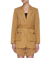 camel canvas belted jacket