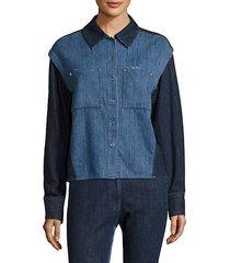 nora quasay denim long-sleeve shirt