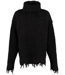moncler ribbed turtleneck sweater