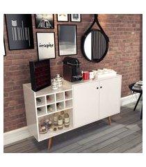 aparador buffet /  adega - off white - rpm móveis