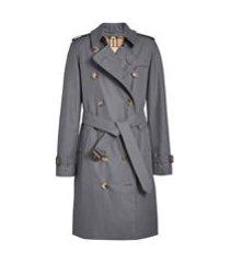 burberry trench coat the kensington heritage - cinza