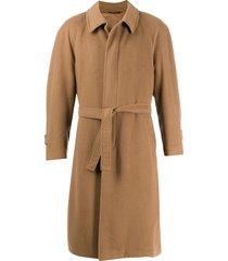 a.n.g.e.l.o. vintage cult 1990s belted midi coat - brown