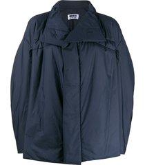 132 5. issey miyake oversized high neck jacket - blue