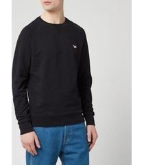 maison kitsune men's tricolor fox patch sweatshirt - black - m - black