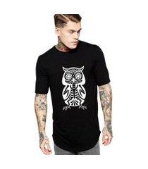 camiseta criativa urbana oversized coruja mexicana ossos