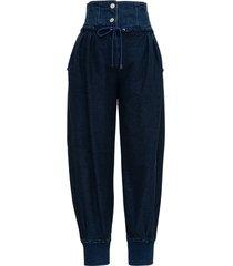 alberta ferretti high waist denim jeans