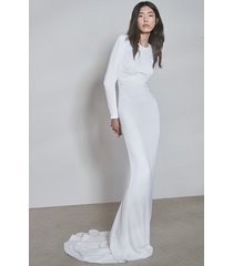 women's stella mccartney f18 ruby long sleeve cutout wedding dress