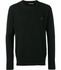 acne studios suéter nalon face de lã - preto