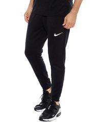 pantalón de buzo nike m nk dry pant taper fleece negro - calce regular