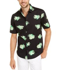 alfani men's classic-fit abstract floral-print shirt, created for macy's