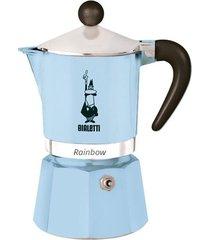 cafeteira rainbow 3 xícaras azul claro bialetti