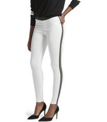 kendall + kylie metallic side stripe leggings