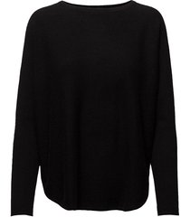 curved sweater stickad tröja svart davida cashmere