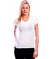 rj bodywear ladies t-shirt v-hals white