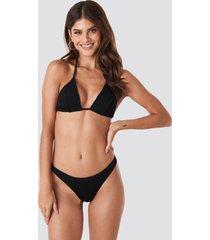 gerda x na-kd basic smocked bikini bottom - black