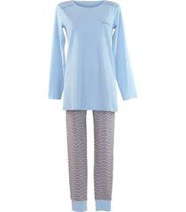 pyjama's / nachthemden lisca lange mouw legging pyjama wang blauw