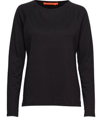 longsleeved t-shirt w. raglan sleev stickad tröja svart coster copenhagen