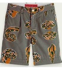 scotch & soda printed cotton chino shorts