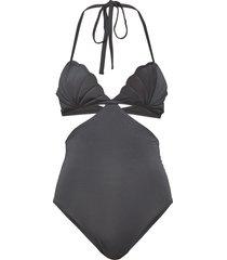 scarlet swimsuit grey baddräkt badkläder grå underprotection