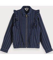 scotch & soda lurex pinstripe jacket