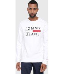 buzo blanco-rojo-azul tommy jeans