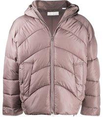 random identities hooded puffer jacket - pink