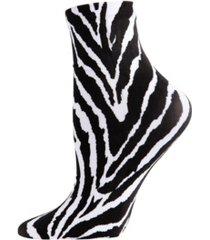 zebra stripe print women's anklet socks