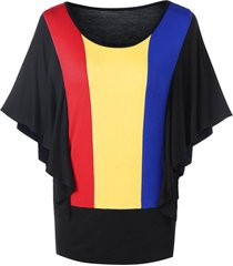 rainbow color butterfly sleeves tunic tee