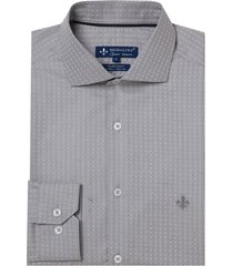 camisa dudalina manga longa fio tinto maquinetada masculina (cinza claro, 7)