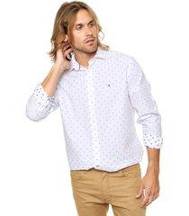 camisa blanca tommy hilfiger regular fit mullins dobby shirt